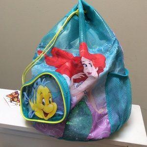 Disney Little Mermaid Ariel Flounder Backpack